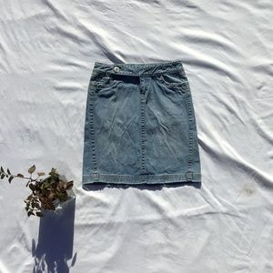 Blue Asphalt Denim Skirt